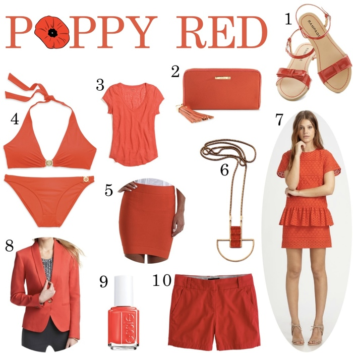 10 poppy red clothing items for spring 2013