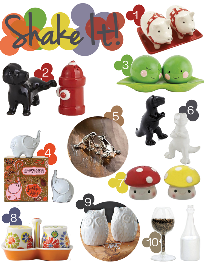 10 Funky Salt And Pepper Shakers