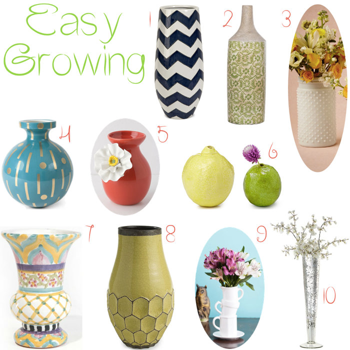 Summer Flower Vases