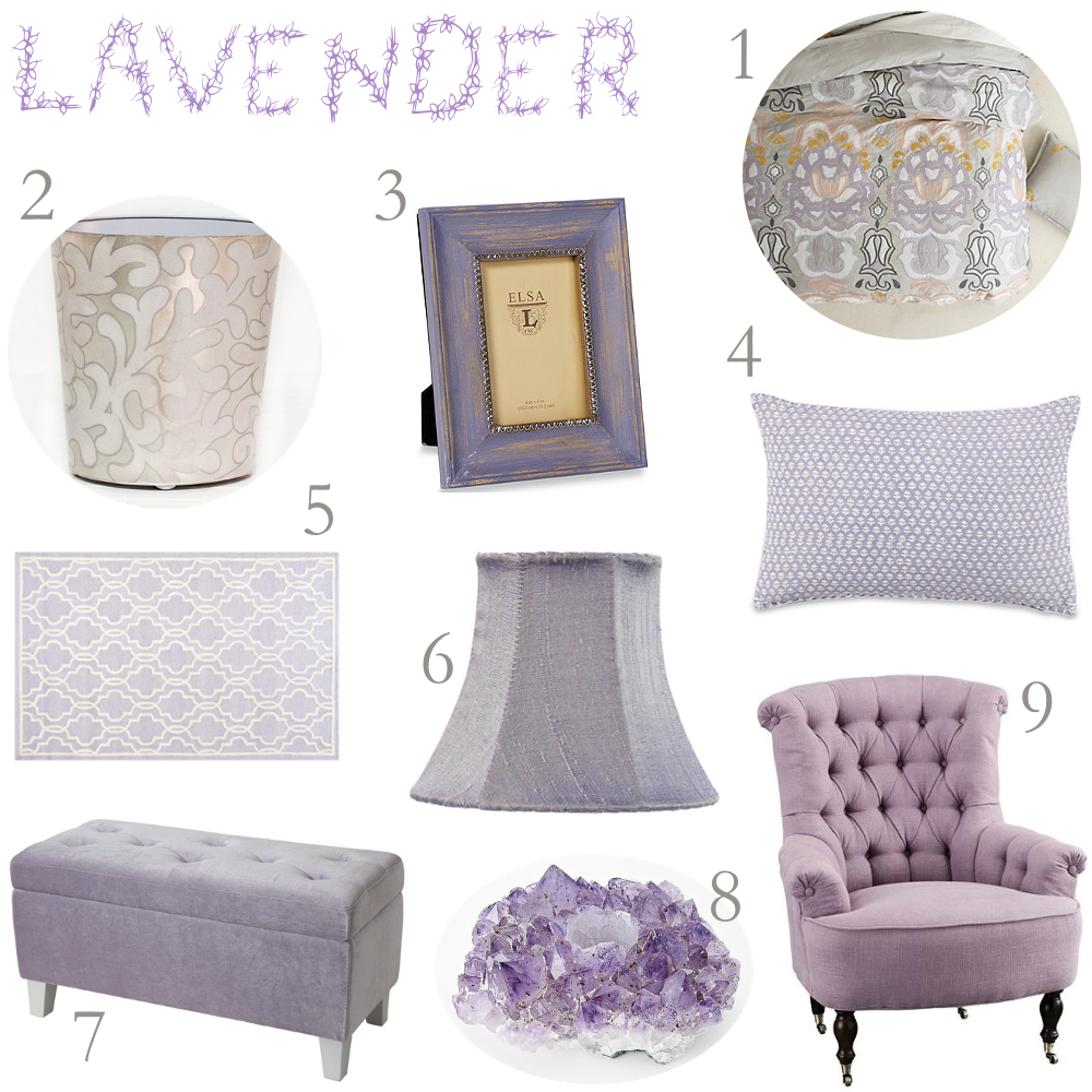 Lavender And Grey Bedroom Decor