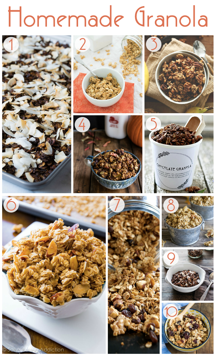 10 Homemade Granola Recipes