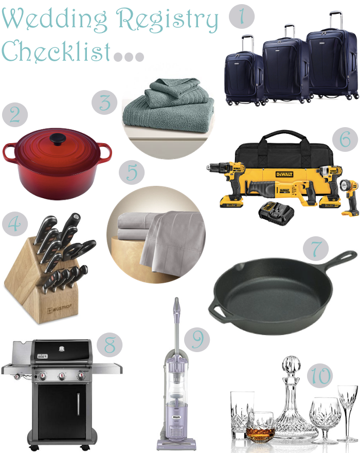 10 must have items for your wedding registry for At home wedding registry