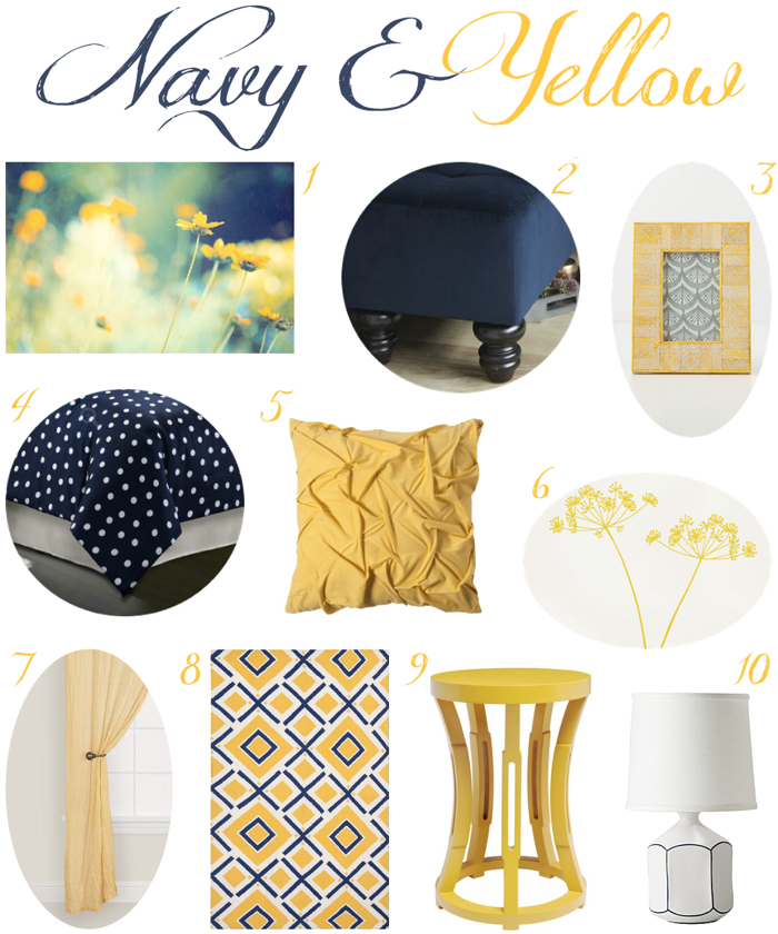 Navy Blue White And Yellow Bedroom Euffslemani Com